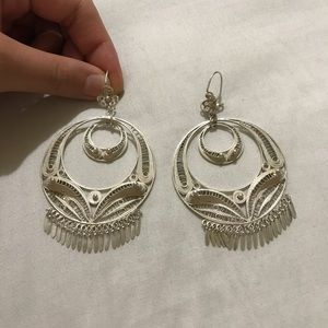 Sterling Silver Mexican Filigrana Earrings
